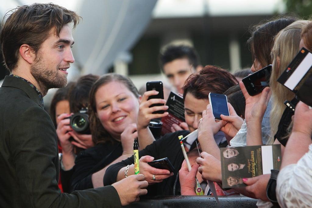 Robert Pattinson greeted fans in Sydney.