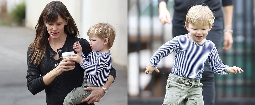 Jennifer Garner Helps Samuel Get His Swing On