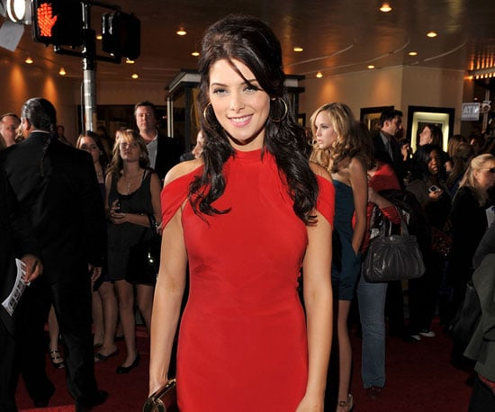 Slide Photo of Ashley Greene on New Moon Red Carpet in LA Wearing Red