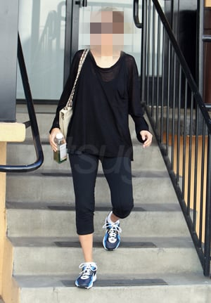 Celebrity Leaving Gym With Chlorophyll H2O Drink From Pressed Juicery
