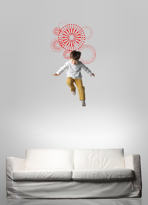 Decorate With This: Firework Wall Decal