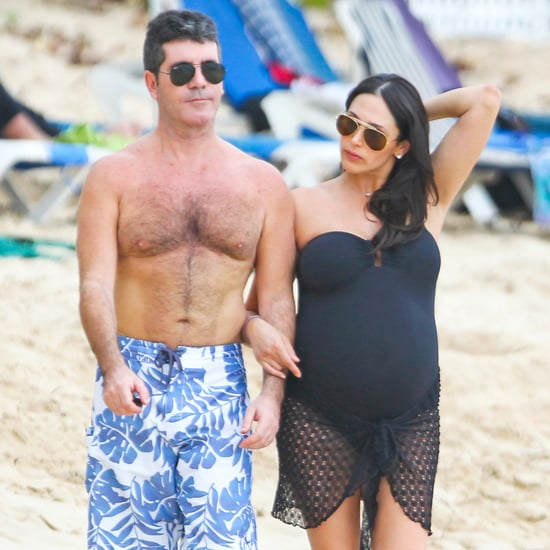 Shirtless Simon Cowell on Beach With Lauren Silverman