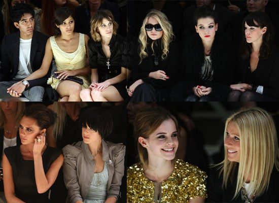 Photos of at Alexa Chung, Emma Watson, Freida Pinto, Victoria Beckham, Agyness Deyn at London Fashion Week Burberry Show