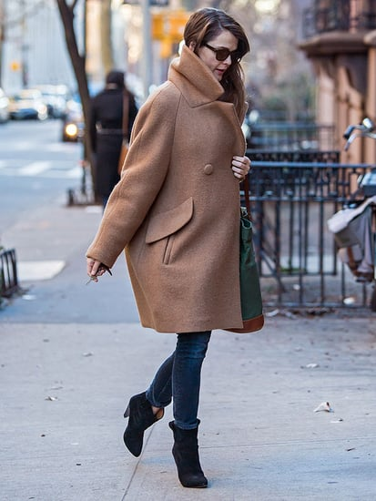 Pregnant Keri Russell Steps Out in Chic Winter Coat