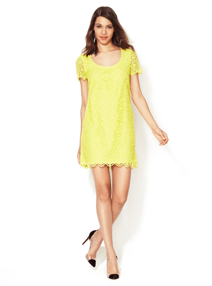 We love the idea of wearing this French Connection Lisella lace dress ($89, originally $228) to an outdoor wedding.