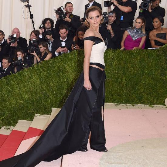 Emma Watson Wearing Calvin Klein at the Met Gala 2016