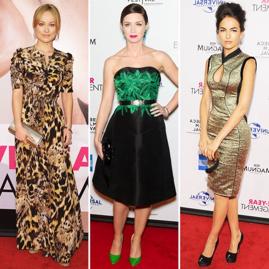 Emily Blunt, Olivia Wilde, and More Glam Up For the Five-Year Engagement Premiere — Who's Most Fab?