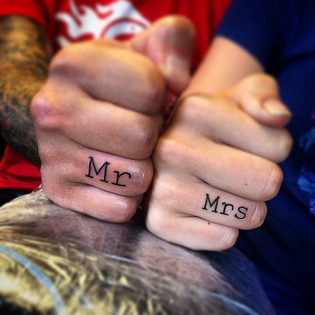 Realistic Wedding Ring Tattoos: Real-Girl Engagement Tattoos