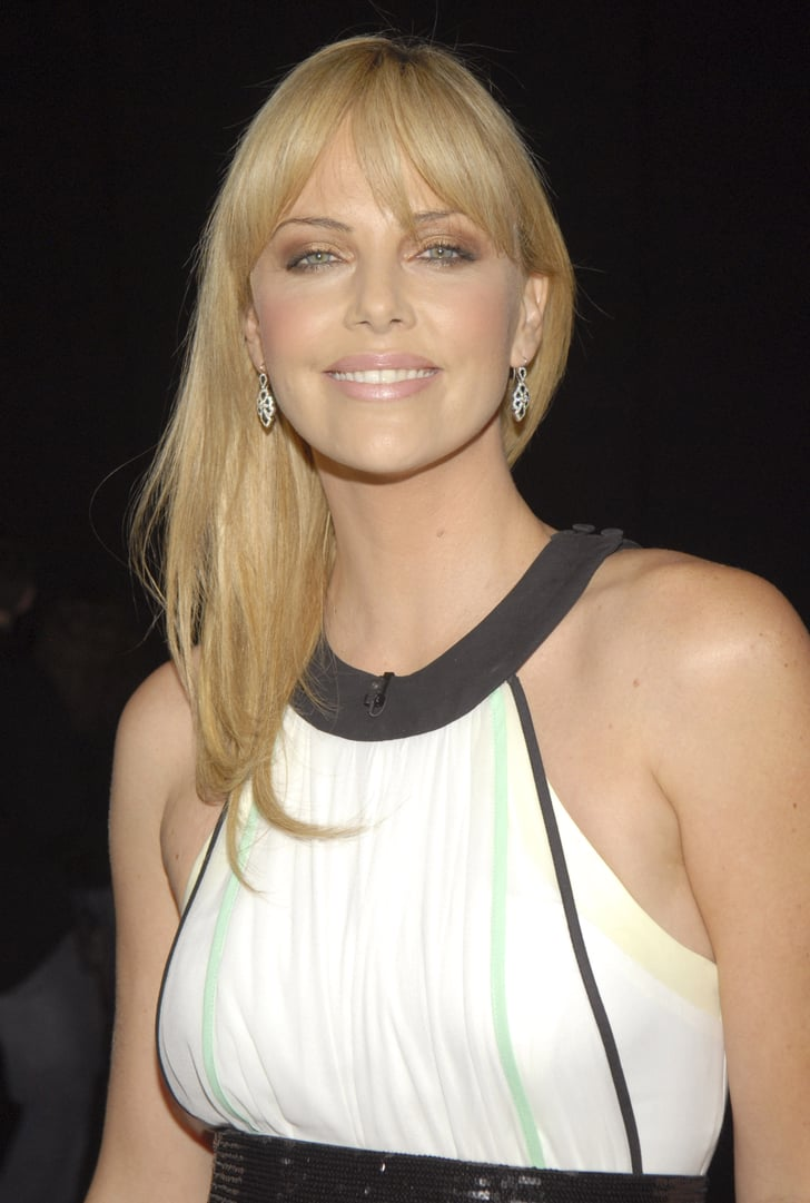 Charlize Theron Hot Blonde Facial Fills A Sock - Best Hot