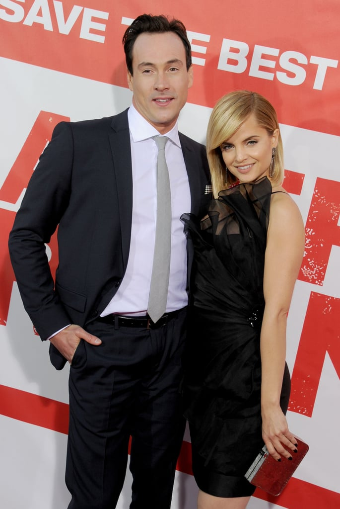 Chris Klein and Mena Suvari get together for American Reunion.