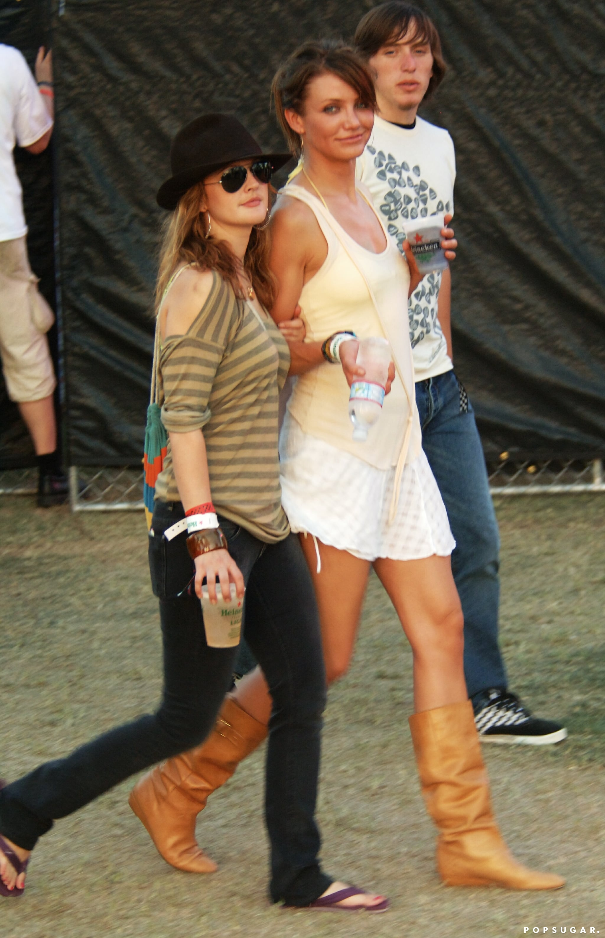 Cameron Diaz and Drew Barrymore buddied up for Coachella in 2007.