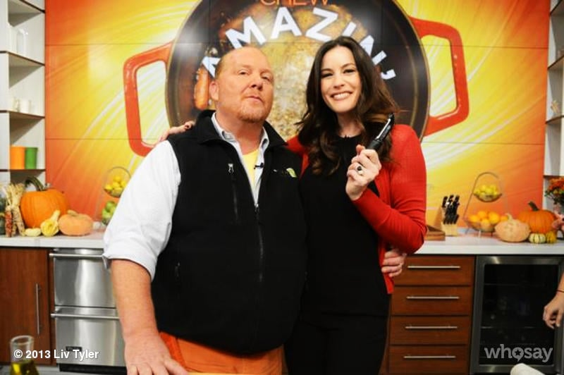 Liv Tyler made an appearance on The Chew with chef Mario Batali. Source: Liv Tyler on WhoSay