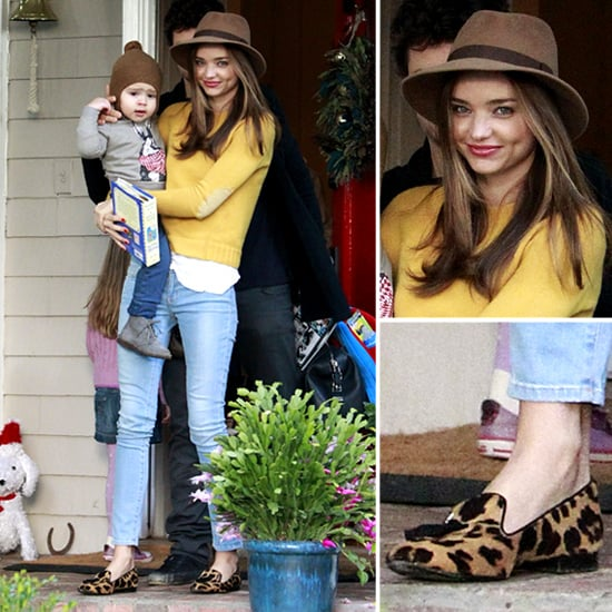 Miranda Kerr Wearing Yellow Sweater and Jeans