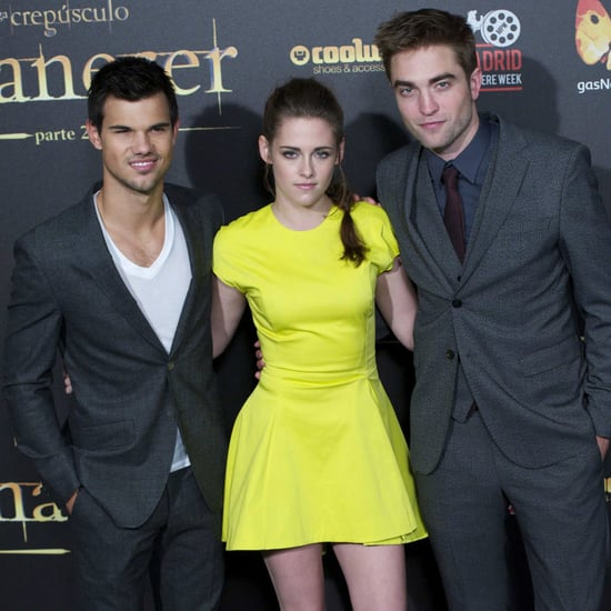 Kristen Stewart Neon Dior Dress Pictures in Madrid