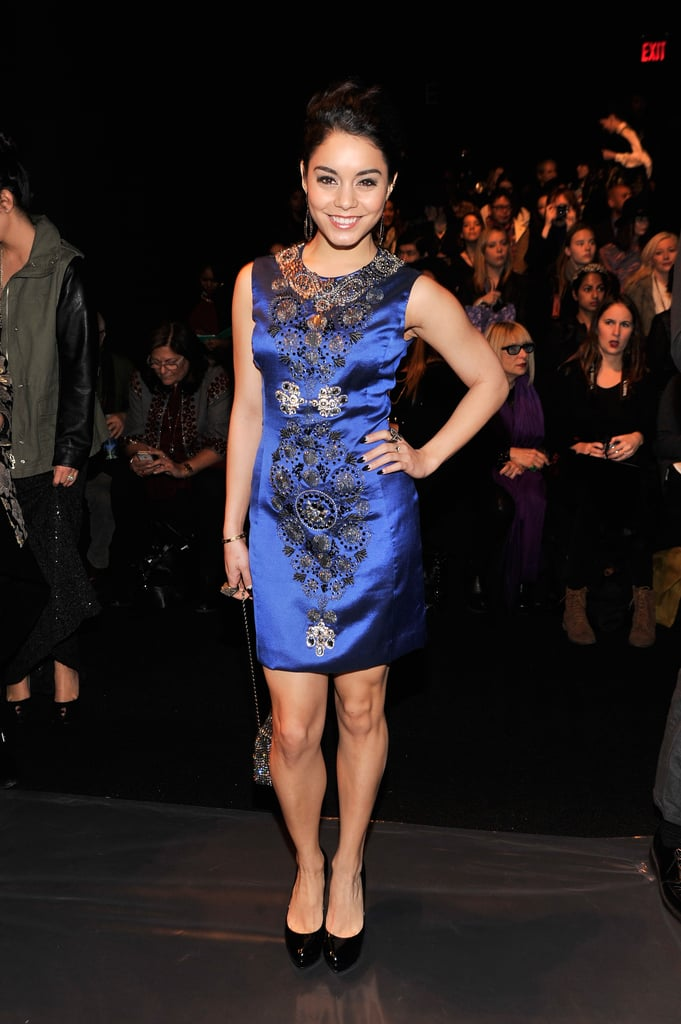 Vanessa Hudgens posed at the Naeem Khan NYC runway show in February.