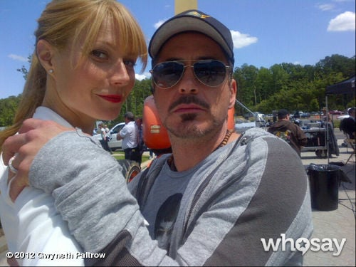 Gwyneth Paltrow reunited with Robert Downey Jr. on the set of Iron Man 3 in June. Source: WhoSay user Gwyneth Paltrow