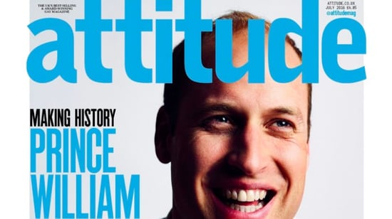 Prince William is the First Royal to Pose For an LGBT Magazine