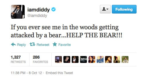 Will do, Diddy!