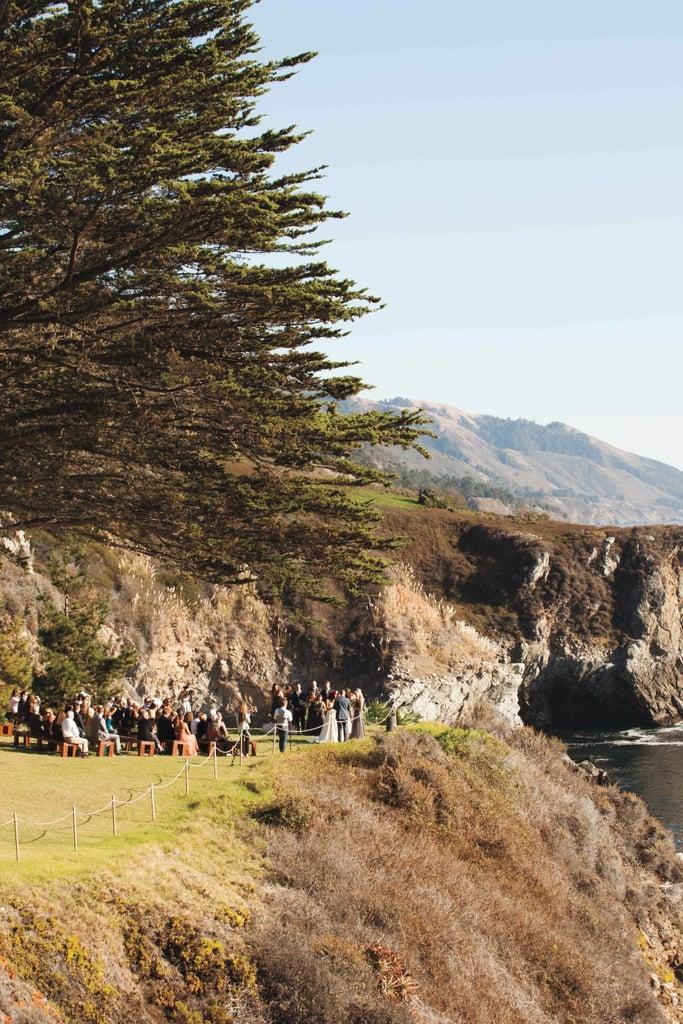 Coastal outdoor ceremony setting