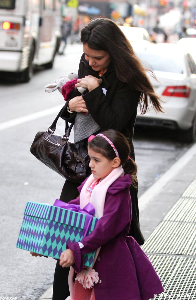 Katie Holmes and Suri Go Out Bearing Gifts in NYC