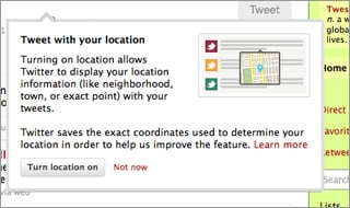 Include Your Location In Your Tweet