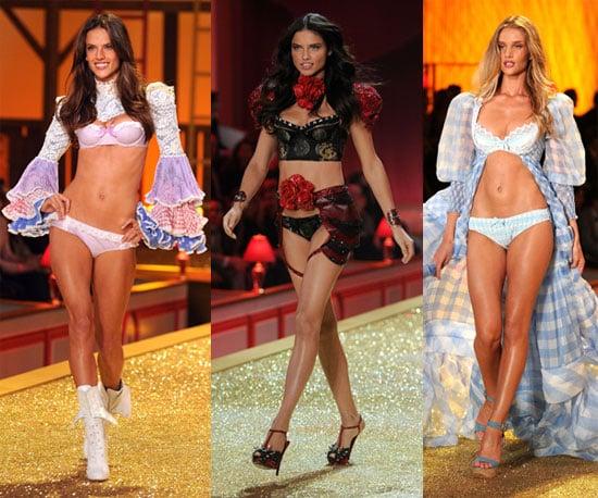 Photos of Paris Hilton, Katy Perry, Adriana Lima, Alessandra Ambrosio at the 2010 Victoria's Secret Fashion Show