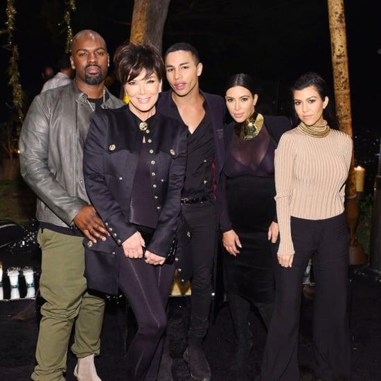 Kardashians at Olivier Rousteing's Birthday Party 2015