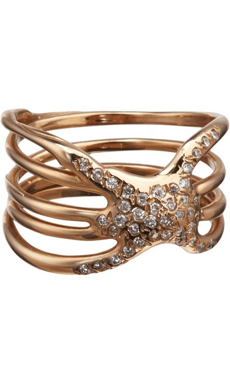 Did anyone else immediately think Game of Thrones chic when they saw this Lucifer Vir Honestus diamond Nodo ring ($3,285)? That's not a bad thing, by the way.