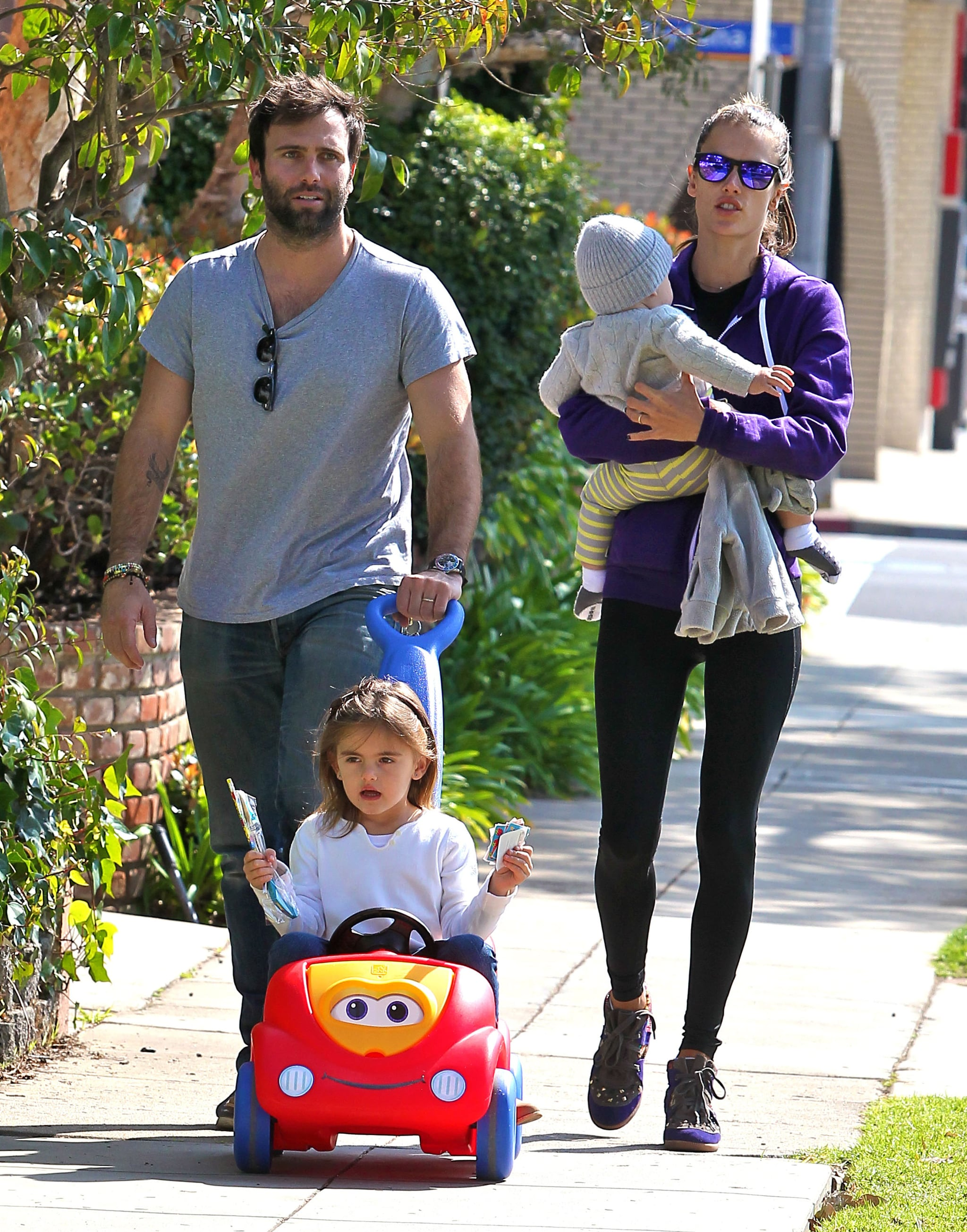 Alessandra Ambrosio and her family spent time together in LA.