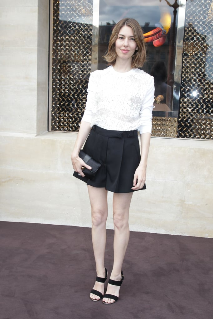 Sofia Coppola channeled Audrey Hepburn chic in a classic ensemble at Louis Vuitton's store opening.