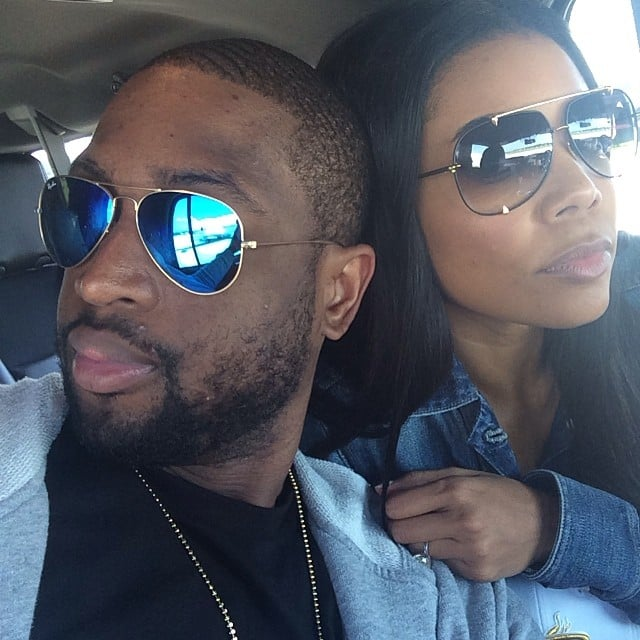Dwyane Wade and Gabrielle Union wore matching blue ensembles for their Fourth of July adventures. Source: Instagram user dwyanewade