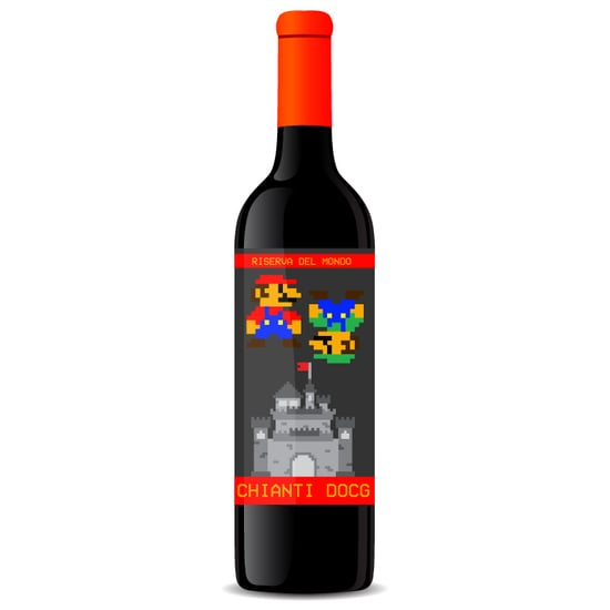 Nintendo 8-Bit Wine Labels