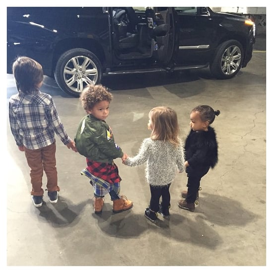 Kim Kardashian With North West and Her Cousins | Pictures