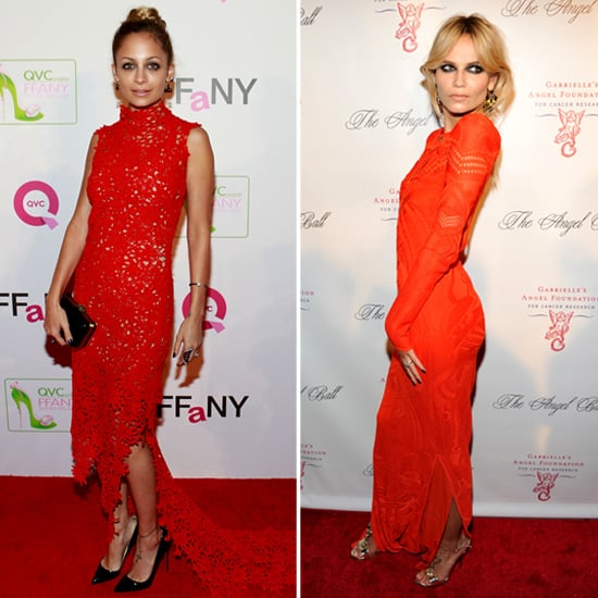 Nicole Richie in Bright Red Dress 2012 | Pictures
