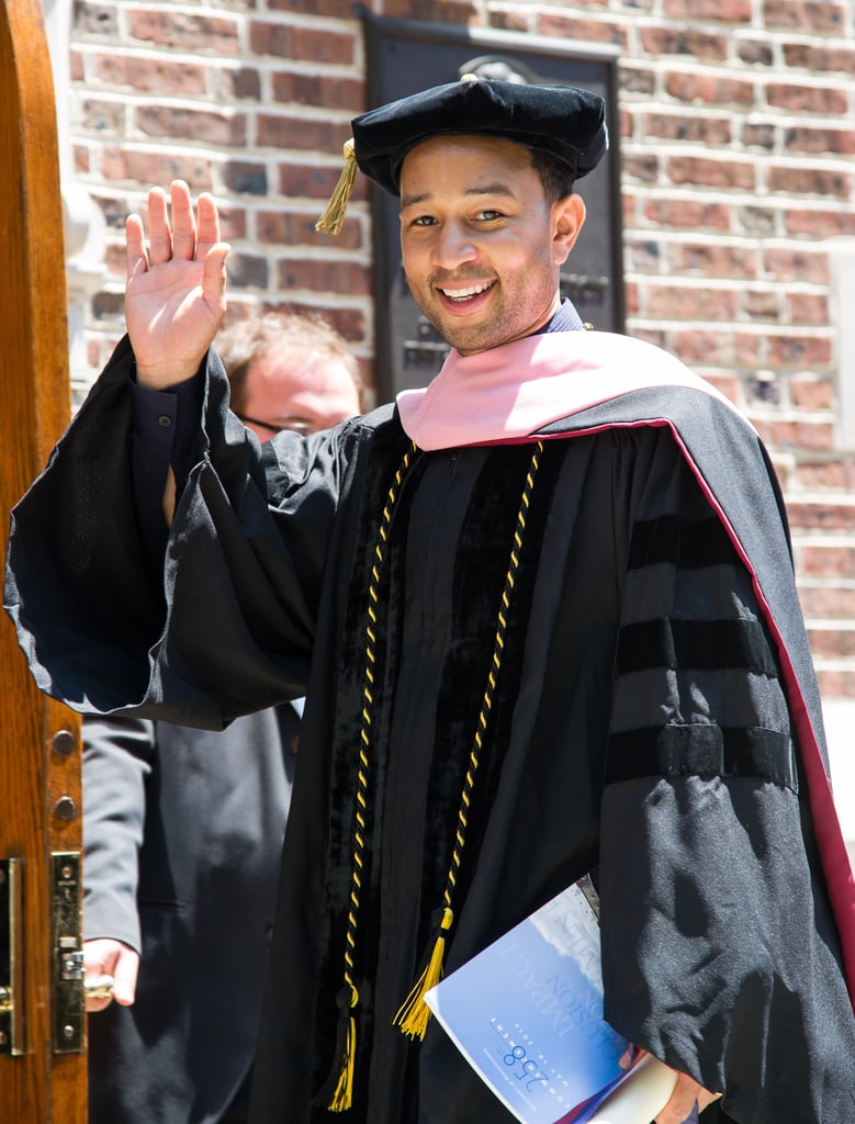John Legend received an honorary doctorate of music at the University of Pennsylvania graduation ceremony on Monday.