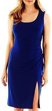Solid Sheath Dress with Slit