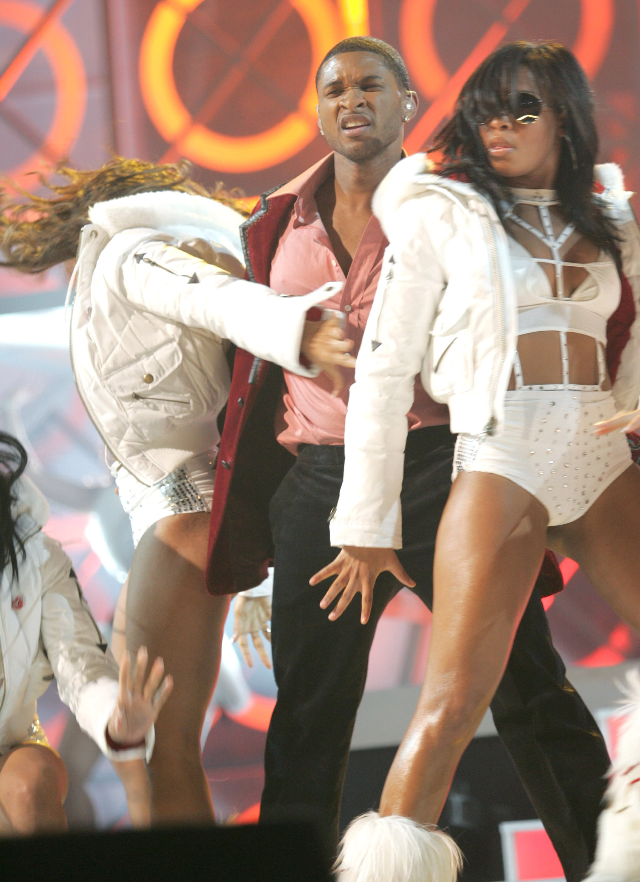 Usher got sexy on stage in December 2004 for the Billboard Music Awards.