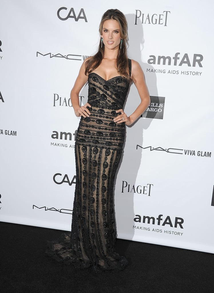 Alessandra Ambrosio stepped out in LA for the amfAR 3rd Annual Inspiration Gala.
