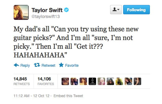 Pun intended, Taylor Swift.