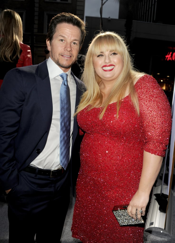 Aussie girl Rebel Wilson turned the heat up in red when she hit the premiere of her and Mark Wahlberg's new movie, Pain & Gain, on April 22.
