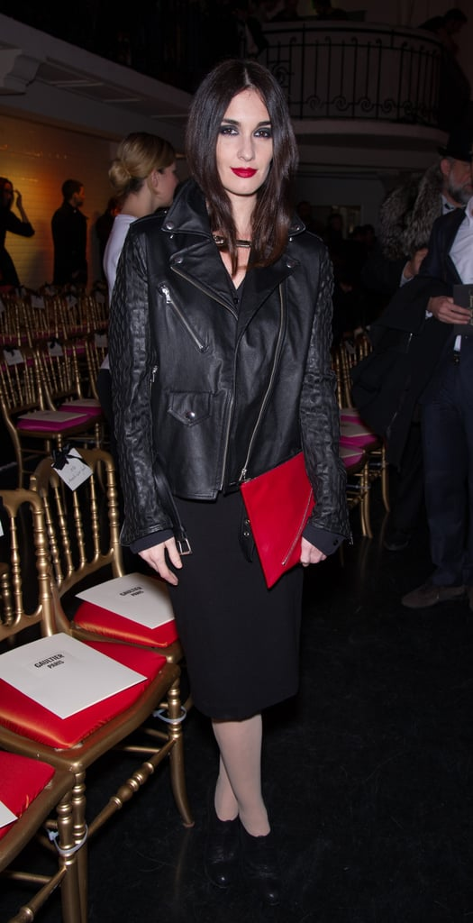 Paz Vega worked an all-black look that was part ladylike thanks to her pencil skirt and part edgy due to her biker jacket. We love the pops of red via her oversize clutch and lipstick.