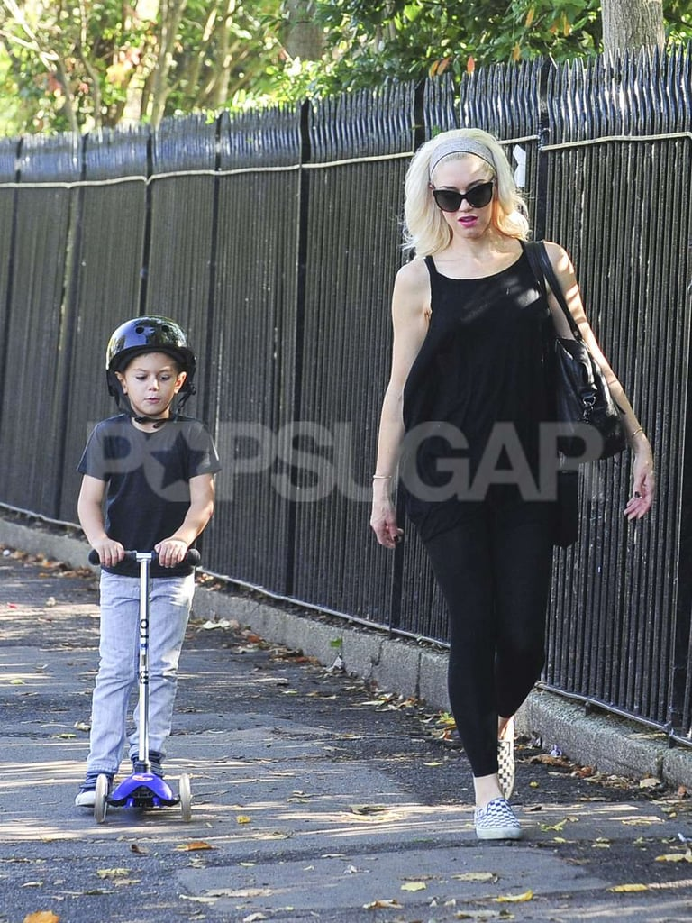 Kingston Rossdale and Gwen Stefani out and about together in London.