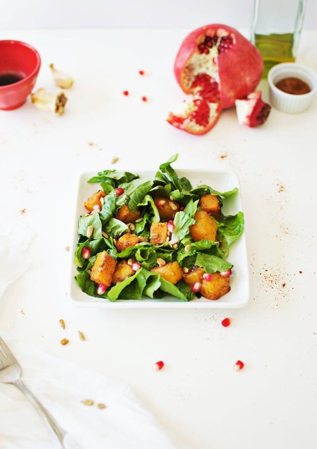 Roasted Butternut Squash Salad With Maple Vinaigrette
