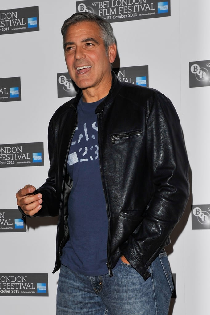 George Clooney kept his look cool and casual for The Ides of March press conference in London.
