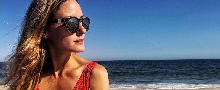 It's Wednesday and Olivia Palermo's at the Beach . . . in the Chicest One-Piece You've Ever Seen