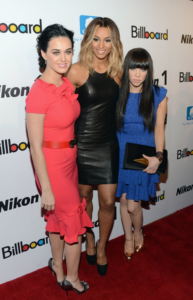 Katy Perry and Carly Rae Jepsen posed with Ciara at Billboard's Women in Music event in NYC.
