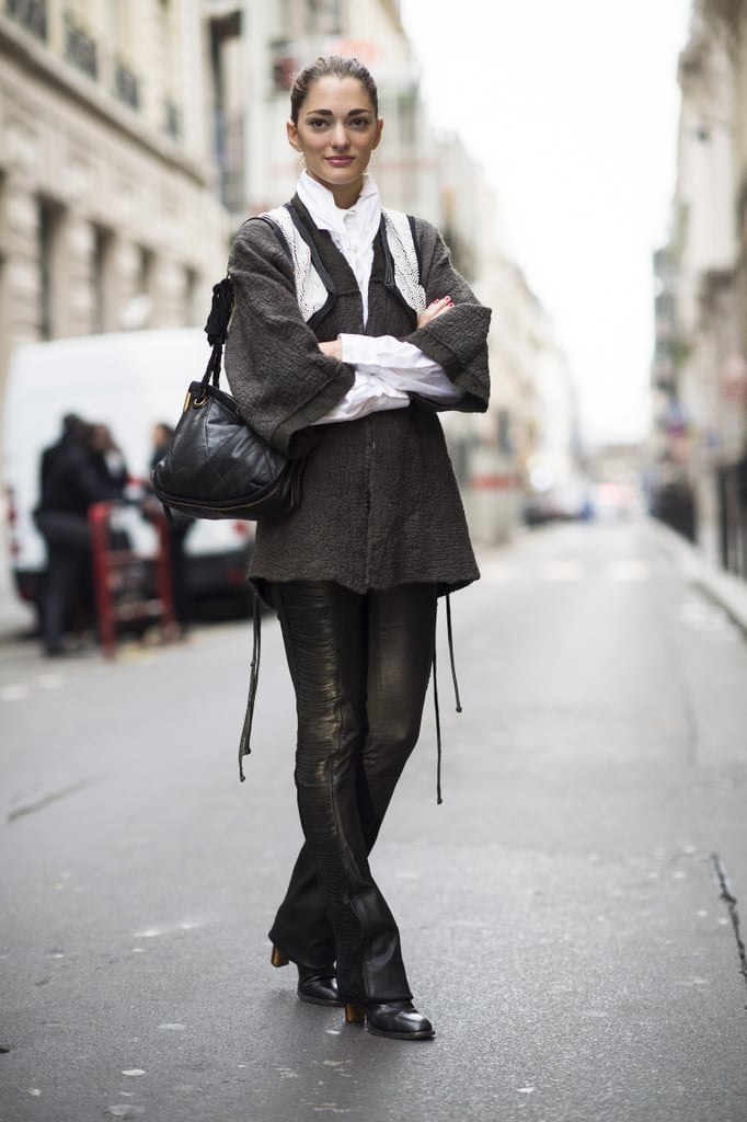 Leather flares are downright rock-and-roll. Source: Le 21ème   Adam Katz Sinding