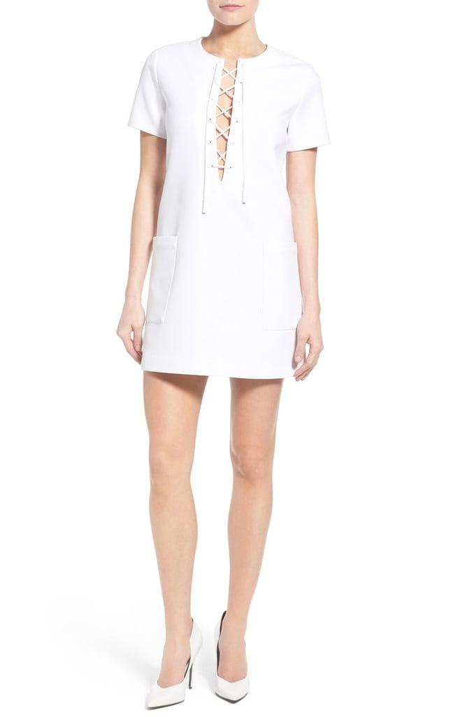 KENDALL + KYLIE 'Safari' Lace-Up Shift Minidress ($168)