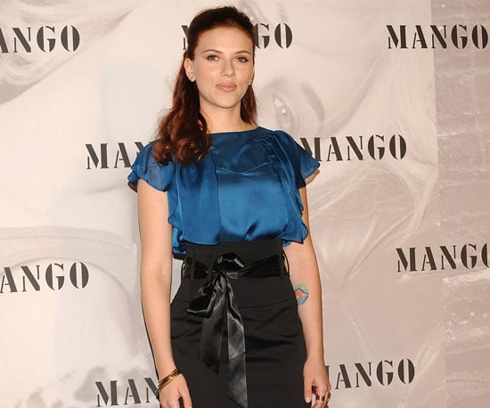Photo Slide of Scarlett Johansson Being Announced as the New Face of Mango in Madrid
