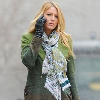 Blake Lively chatted on her cell.